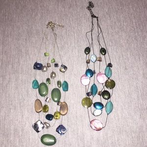 Beautiful Layered Stone Necklace | Bundle Of 2